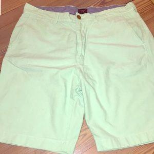 J. Crew Club Pastel Green Oxford Shorts - Size 34